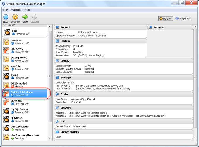 Installing Solaris x86 11 2 from an ISO in Virtualbox – part 3